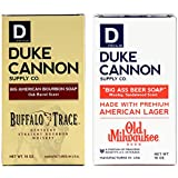 Duke Cannon Supply Co. - Big Ass Brick of Soap Variety Gift Set (2 Pack of 10 oz) Big American Bourbon Soap Made With Buffalo Trace & Big Ass Beer Soap Made with Old Milwaukee American Lager