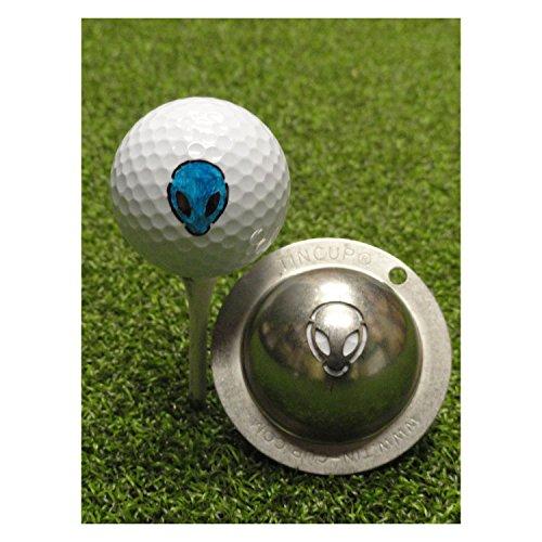 Tin Cup, Golfball-Schablone mit dem Motiv Alien