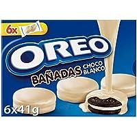 Oreo - Galletas de Cacao Rellenas de Crema Blanco y Cobertura Sabor Chocolate Blanco, 6 bolsas de 2 galletas, 246 g