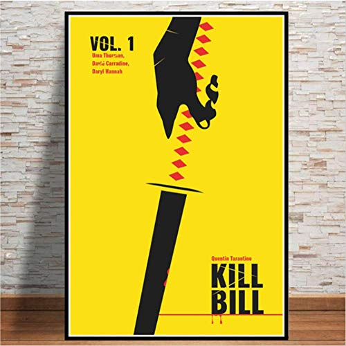 NOBRAND Kill Bill Pulp Fiction Movie Film Vintage Poster and Prints Painting Art Wall Pictures Living Room Home Decor 50 * 70Cm Sin Marco