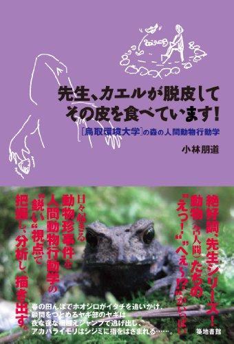 先生、カエルが脱皮してその皮を食べています! 鳥取環境大学の森の人間動物行動学