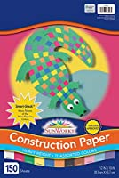 Construction Paper Smart-Stack, 58 lbs., 12 x 18, Assorted, 150 Sheets/Pack