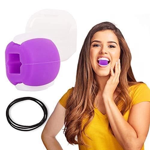 Ulikey Jawline Ball, Exerciseur de Mâchoire, Balle De Fitness pour Exercice de La MâChoire, Jawline Jaw Exerciser, Exerciseur Double Menton (Purple)