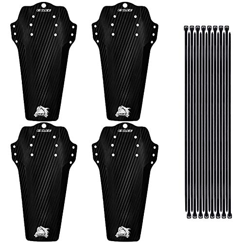 Firtink 4 Pcs Mountian Bike Fender, MTB Mudguard Including 16 Cable Ties, Front and Rear Bicycle Fender Folding Front MudGuard for 26', 27.5', 29' Size Mountain Bike