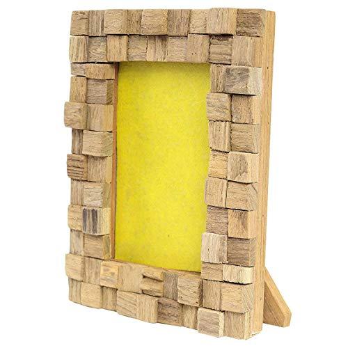Oriental Galerie Bilderrahmen aus Holz Thailand Massiv Holz-Rahmen Standrahmen Wandrahmen 10x15 cm T2
