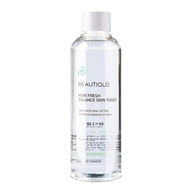 溶融背景スカリー韓国化粧品 BEAUTIQLO NONI FRESH BALANCE SKIN TONER ビューティクロ ノニフレッシュバランススキントーナー 化粧水