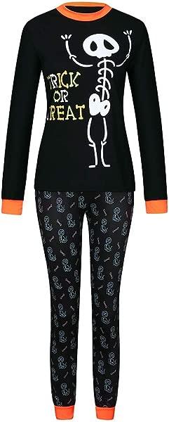 Family Halloween Set Pajamas Sleepwear Jammies Skull Printed Infant Baby Girl Boy Mom Dad Kids Homewear
