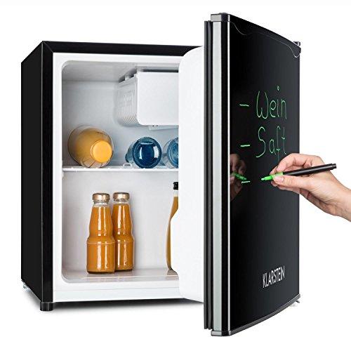 Klarstein Spitzbergen - Kühlschrank, Standkühlschrank, beschreibbare Tür mit Marker, 5-stufiger Temperaturregler, Türanschlag beidseitig montierbar, 40 Liter Volumen, schwarz