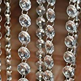 ALLOMN - Cadena de perlas de cristal de garland (5 m)
