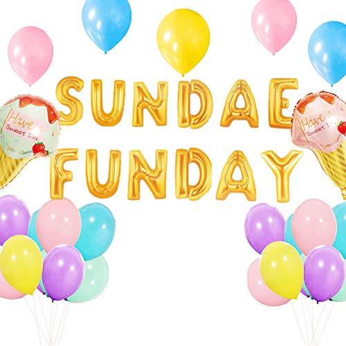 SUNDAE FUNDAY Balloons