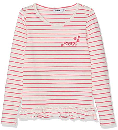 Mexx Mexx Mädchen T-Shirt, Mehrfarbig (Chalk Pink/Fandango Pink/Marshmallow 318150), 116 (Herstellergröße: 110-116)