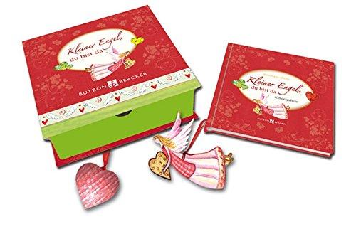 Kleiner Engel, du bist da: Geschenkbox mit Buch, einem Engel mit Aufhängeband und einem Stoff-Herz