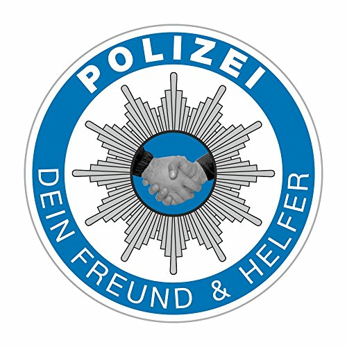 carstyling XXL Aufkleber Polizei - Dein Freund & Helfer Ø 60 mm ~ schneller Versand innerhalb 24 Stunden ~