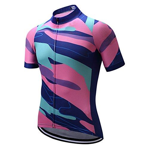 Shenshan Bike Clothing - Maillot de ciclismo para hombre, color rosa y...