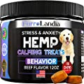 Hemp Calming Treats for Dogs with Anxiety and Stress - 170 Soft Chews - Made in USA - Hemp Oil for Dogs - Dog Anxiety Relief - Natural Calming Aid - Stress - Fireworks   Aggressive Behavior