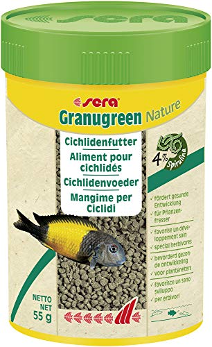 sera Granugreen ein pflanzliches Futter für herbivore Cichliden Malawi & Tropheus Moorii