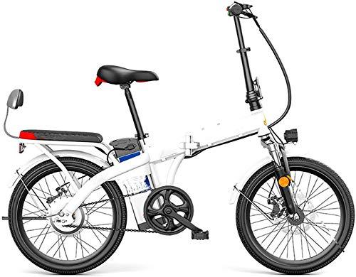 """Leifeng Tower Alta Velocidad 20"""" Plegable Ciudad de Bicicleta eléctrica, Bicicleta eléctrica asistida 250W 48V Sport Bicicletas con batería extraíble de Litio, Carbono Material Acero"""