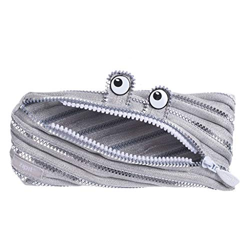 ZIPIT Monster Pencil Case Special Edition, Silver