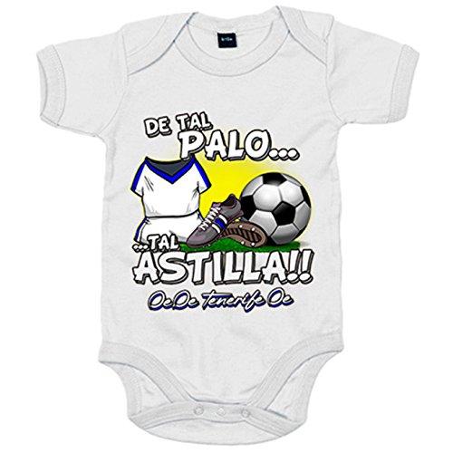 Body bebé de tal palo tal astilla Tenerife fútbol - Blanco, 6-12 meses
