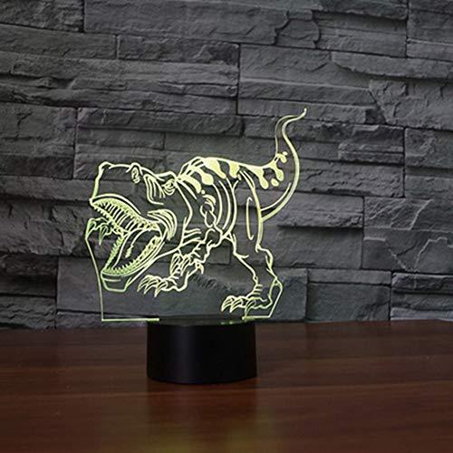 Unbekannt Kreative Tischlampe, Dinosaurier Form neues Licht Schlafzimmerlampe Wohnzimmer tragbare Tischlampe Nachttischlampe LED-Nacht