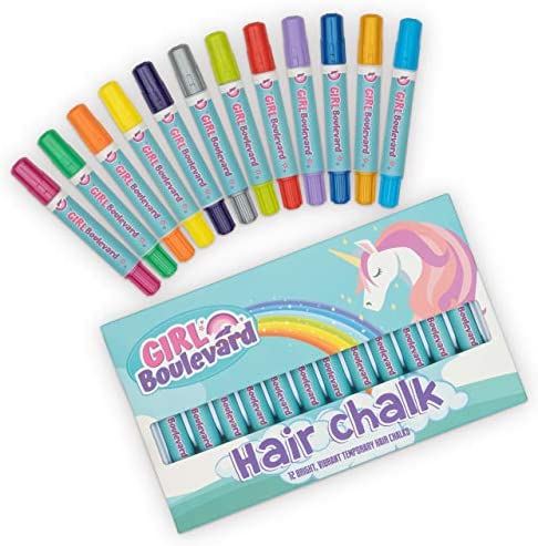Girl Boulevard Hair Chalk for Kids 12 Color Washable Hair Dye for Kids Hair Chalk for Girls product image
