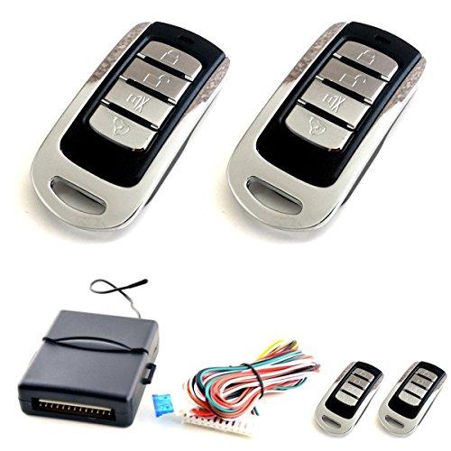 Akhan 100F11 - Funkfernbedienung für vorhandene original Zentralverriegelung, mit 2 Handsender geeignet für pneumatische, elektrische u. nachträglich eingebaute Zentralverriegelungen