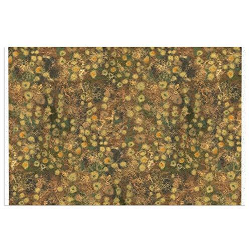 Golden Meadow - Felpudo de entrada (PVC, antideslizante, resistente al agua, para interiores y exteriores, 39,9 x 59,9 cm)