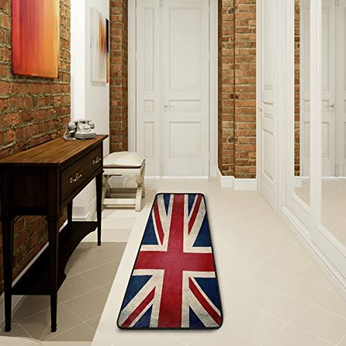 Mnsruu Tapis de Collection Union Jack Drapeau Britannique Vintage 61 x 182,88 cm