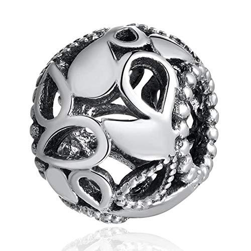 Pandora 925 plata esterlina DIY cuentas de lágrima caladas encanto ajuste señora pulsera pulsera para mujer fabricación de joyas