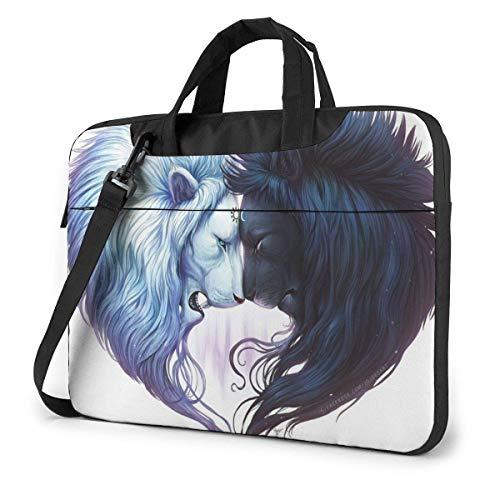 15.6″Lightweight Laptop Notebook Shoulder Backpack Bag Lions Waterproof PC Briefcase Messenger with Strap