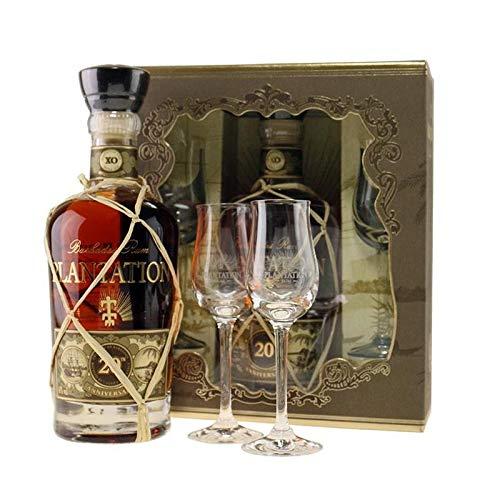 XO RUM BARBADOS 20. Jahrestag Geschenk-Paket mit Glas 70 CL