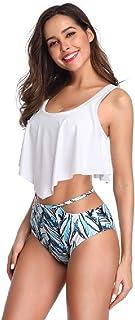 Bikini de Cintura Alta con Estampado de Trajes de baño