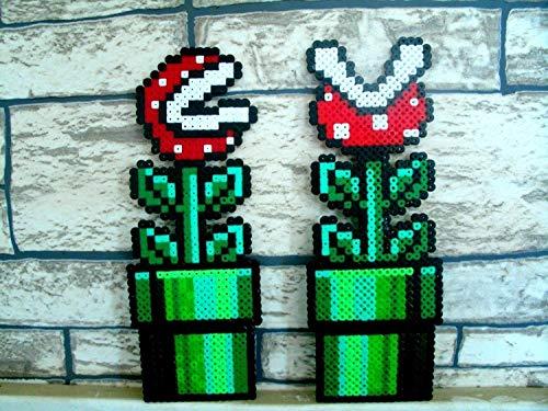 Sprite 1x Fleisch fressenden Pflanzen von Mario Bros Hama Perlen • • Pixel Art Perler Perlen repräsentieren