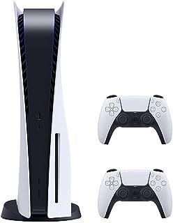 جهاز تشغيل العاب الفيديو الرقمية بلاي ستيشن 5 مع 2 دراع دوال سينس للتحكم واللعب