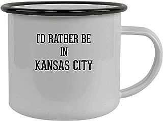 I'd Rather Be In KANSAS CITY - Stainless Steel 12oz Camping Mug, Black