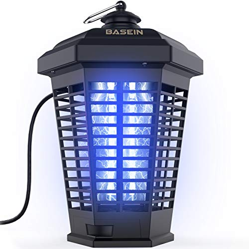 Bug Zapper for Outdoor and Indoor 4200V High Powered Waterproof Electronic Bug Zapper Flies Trap Misquote Killer Mosquito Trap Outdoor...