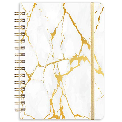 """Ruled Journal/Notebook- Lined Journal, 6.3"""" X 8.35"""", Hardcover, Back Pocket, Strong Twin-Wire Binding with Premium Paper, Lined"""