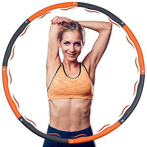 Gotem Hula Hoop,Hula Hoop Reifen für Erwachsene/Kinder/Anfänger,8 Segmente Abnehmbarer Hoola Hoop zur Gewichtsreduktion/Massage/Formgebung, Indoor/Outdoor Fitness Hula Hoop (1,2 kg)