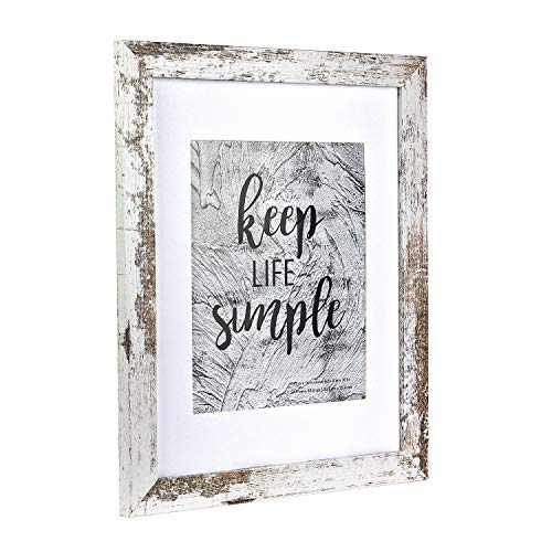 Home&Me 11x14 White Picture Frame - Made to Display Pictures 8x10 with Mat or 11x14 Without Mat - Wide Molding - Wall Mounting Material Included …