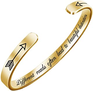 Open Cuff Bangle Bracelet Lightweight and Wear Resistant 3 Colors Available (Color : Gold)