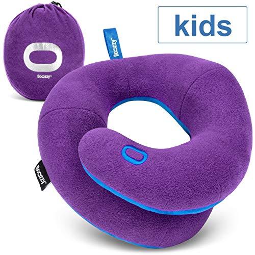 BCOZZY Kinn-stützendes Reisekissen für Kinder – Verhindert, DASS der Kopf des Kindes beim Autofahren nach Oben und unten wackelt – Stützt bequem Kopf, Hals und Kinn. Kindergröße, Lila