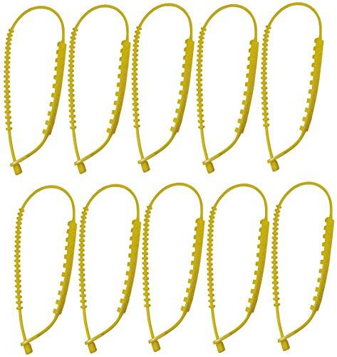 AERZETIX - C47250-10 Stück rutschfeste Nylon schneeketten für autoreifen - länge 85cm - gelbe Farbe