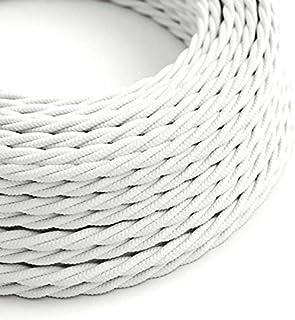 FIL ELECTRIQUE TISSU argent Girard Sudron CABLE TEXTILE TORSADE 2X0.50mm²