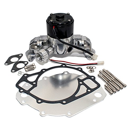 Assault Racing Products 6046000 for Big Block Ford Chrome Aluminum Electric Water Pump HV BBF 429 460