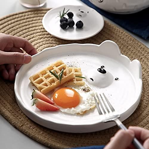 Cena placa placa conjunto de placa de cerámica placa de cocina conjunto de vajillas de alimentos platos de comida ensalada de arroz tallarines de fideos de tazón de fuente de cocina cuchara herramient