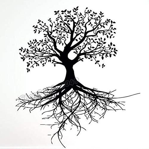 Árbol de la Vida Pegatinas de Pared patrón de Rama de raíz de árbol Pegatinas de Pared hogar Dormitorio decoración de la Sala de Estar Vinilo Arte decoración de la Pared 48X43 cm