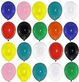 P&S events 100 große Premium Luftballons bunt Markenqualität Naturlatex 100% giftfrei Geburtstagsparty Hochzeit Partyballon farbige Ballons
