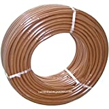 Suinga Manguera de goteo de 16 mm con gotero turbulento integrado cada 35 cm, marrón, 100 mts. Grosor de la pared: 1 mm. Caudal: 2,5 l/h.