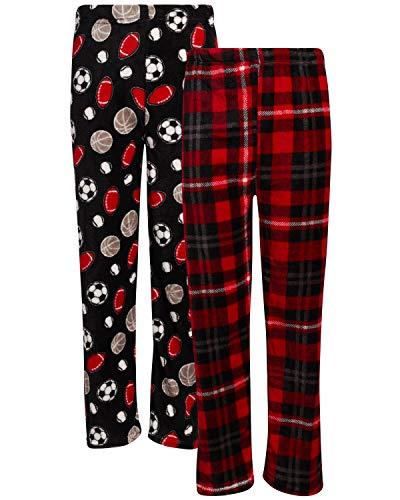 Size 8 Gioberti Big Boys Yarn Dye Brushed Flannel Lounge /& Pajama Pants with Elastic Waist Aqua//Navy