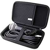 waiyu Hard EVA Carrying Case for Shure SM58-LC/PGA48 Cardioid Dynamic Vocal Microphone ,Shure Brand Multiple Models of Microphones Case